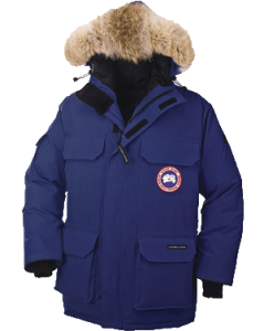 Canada Goose Men's Expedition Parka in royal blue
