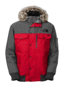 North Face Men's Gotham Jacket (Red/Gray)